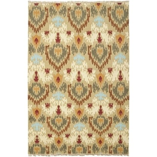 Safavieh Hand-woven Sumak Sage Wool Rug (9' x 12')