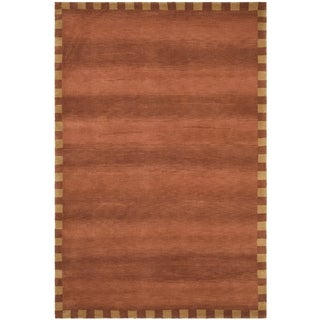 Safavieh Hand-knotted Tibetan Contemporary Rust Wool Rug (9' x 12')