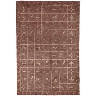 Large Safavieh Hand-knotted Tibetan Multicolored Wool/ Silk Rug (8' x 10')