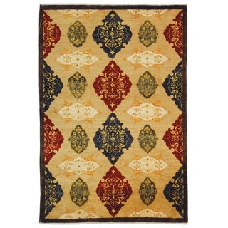 Safavieh Hand-knotted Tibetan Multicolored Geometric Pattern Wool Rug (9' x 12')