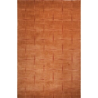 Safavieh Hand-knotted Tibetan Gold/ Rust Wool/ Silk Rug (9' x 12')
