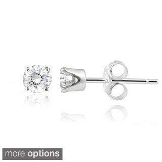 14k Gold Diamond 1/4ct TDW Round Stud Earrings