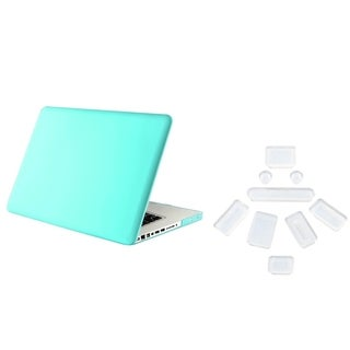 INSTEN Tiffany Blue Laptop Case Cover/ Clear Plug Set for Apple MacBook Pro 13-inch