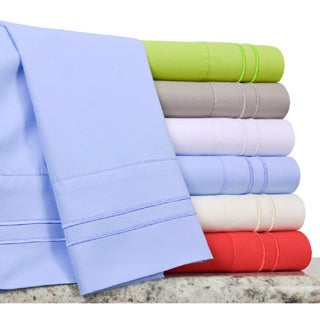Verona Double Merrow Microfiber Sheet Set