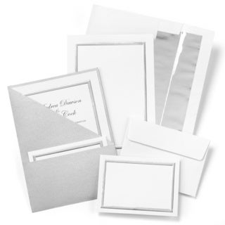 Silver Shimmer Foil Folder Invitation Kit
