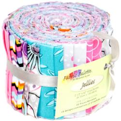 Fabric Palette Jellies 100 Cotton 2.5 X42 Cuts 20/Pkg - Cordero