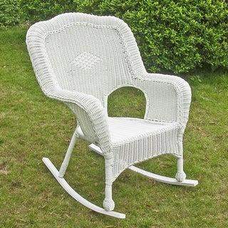 International Caravan Resin Wicker Camel Back Rocking Chairs (Set of 2)