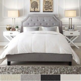 INSPIRE Q Grace Cream Linen Arched Bridge Top Bed