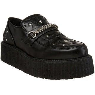 Demonia Men's 'V-Creeper-509' Topstitched Riveted Creeper Shoes