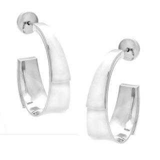 Calvin Klein Stainless Steel Semi-hoop Earrings