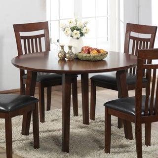 Antique Oak Veneer Round Dining Table