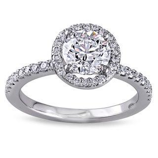 18k White Gold 1 1/6ct TDW Certified Diamond Ring (G, VS1) (GIA)