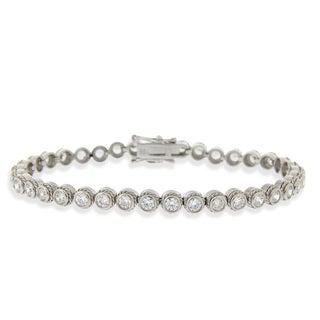 Icz Stonez Sterling Silver Cubic Zirconia Tennis Bracelet