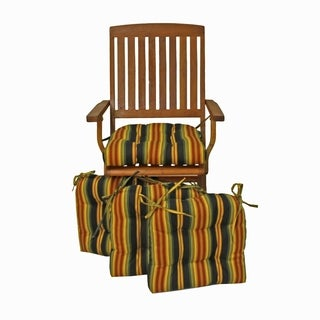 Blazing Needles 16-inch Square Outdoor Chair Cushions (Set of 4)