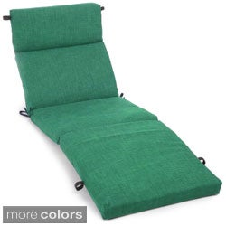 Blazing Needles Outdoor Spun Poly Chaise Lounge Cushion