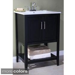 Ceramic-top 24-inch Single Sink Bathroom Vanity