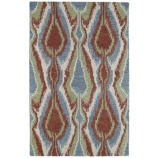 Retreat Multi Ikat Hand Tufted Wool Rug (8'0 x 11'0)