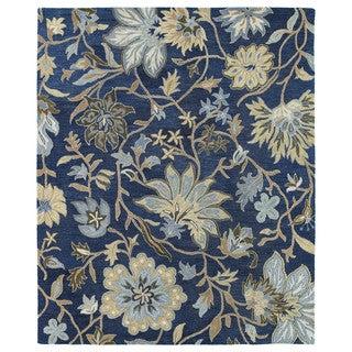 Felicity Navy Hand Tufted Wool Rug (7'6 x 9'0)