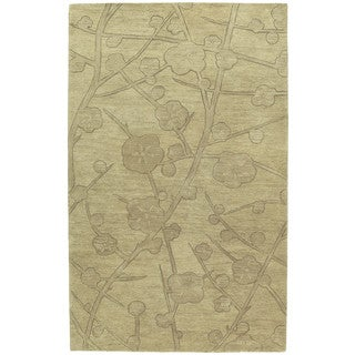 Euphoria Blossom Wheat Tufted Wool Rug (8'0 x 11'0)