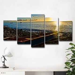 Chris Doherty 'Sunset I' 5-piece Canvas Wall Art Set