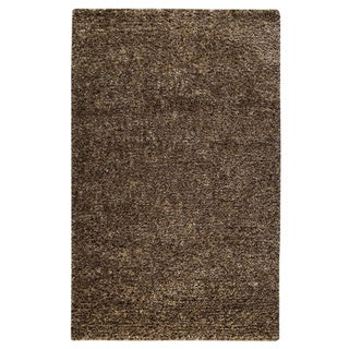 Hand-woven Mali Brown Wool/ Polyester Rug (8' x 10')