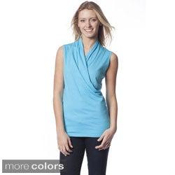 AtoZ Women's Sleeveless Wrap Top
