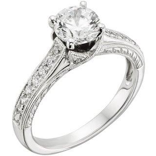 Sofia 14k White Gold 1 1/4ct TDW Certified Diamond Engagement Ring (H-I, I1)