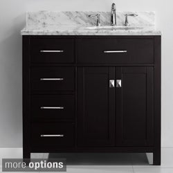 Virtu USA Caroline Parkway 36-inch Single-sink Bathroom Vanity Set