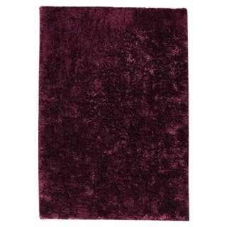 Hand-woven Suns Purple Polyester Rug (5' x 8')