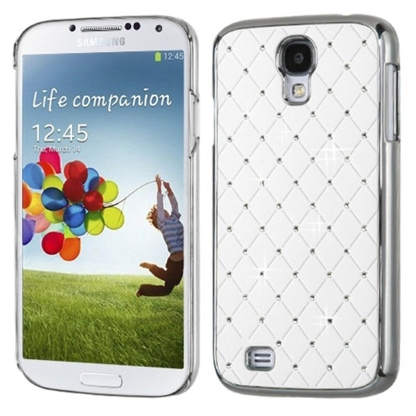 INSTEN Luxurious Lattice/ Alloy Elite D Phone Case Cover for Samsung Galaxy S4