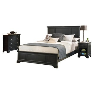 Bedford Black King Bed, Night Stand, and Chest