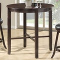 Cappuccino Ash Veneer 42-inch Diameter Bar-height Dining Table