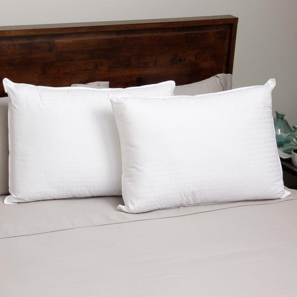 Hotel Madison 305 Wrapped Foam Bun Pillow (Set of 2)