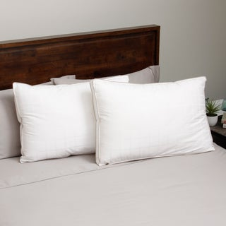 Hotel Madison 300 Thread Count Four Chamber Firm Support Pillow (Set of 2)