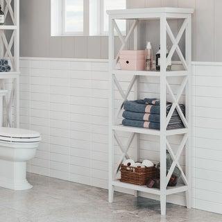 RiverRidge X-Frame Bathroom Towel Tower