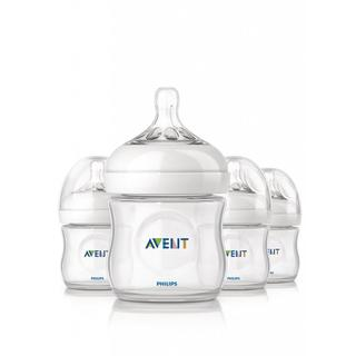 Philips AVENT Natural PP 4-ounce Baby Bottles (Pack of 4)