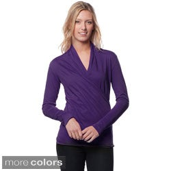 A to Z Women's Long Sleeve Wrap Top