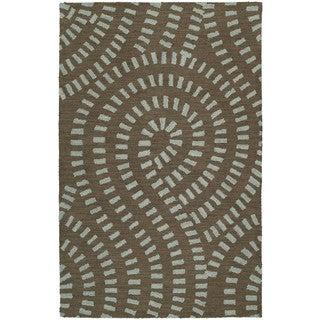 Hand-tufted Zoe Blue Wool Rug (8' x 10')
