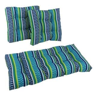 Blazing Needles Spun Poly Settee Outdoor Cushions (Set of 3)