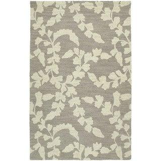 Zoe Grey Hand-tufted Wool Rug (8' x 10')