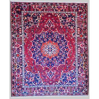 Persian Hand-knotted Tribal Bakhtiari Red/ Burgundy Wool Rug (10'3 x 12'4)
