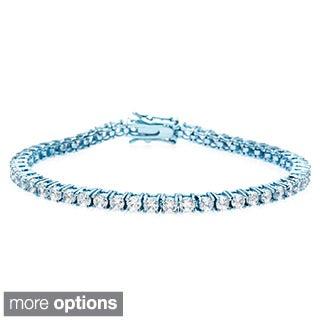 Dolce Giavonna Brass Cubic Zirconia Tennis Bracelet