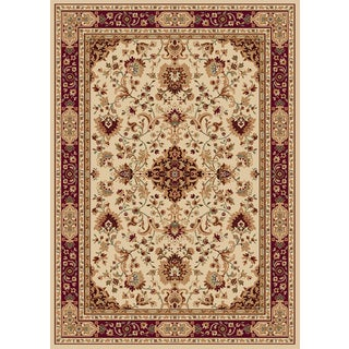 New Tradition Ivory/Red Area Rug (5'2 x 7'2)
