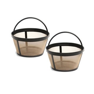 GoldTone 4-8 Cup Reusable Basket Style Coffee Filters (Pack of 2)