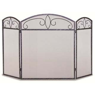 Pilgrim Home & Hearth NF Forged Crest Tri-panel Fireplace Screen