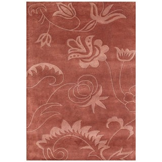 Handmade Faded Rose New Zeeland Blend Wool Area Rug (5' x 8')