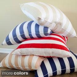 Cabana Stripe 26-inch Euro Square Pillows (Set of 2)