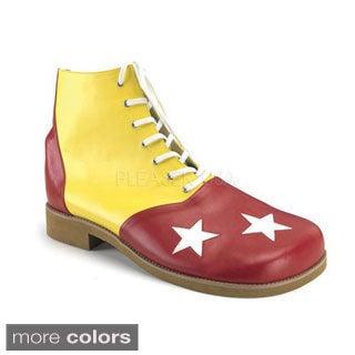 Funtasma Men's 'Clown-02' Star Print Clown Shoes (One size)