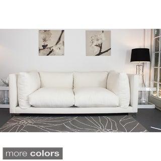 Modern White 'Nuvola' 7-foot Sofa by Decenni Custom Furniture