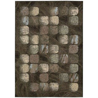 Nourison Modesto Charcoal Area Rug (5'3 x 7'3)